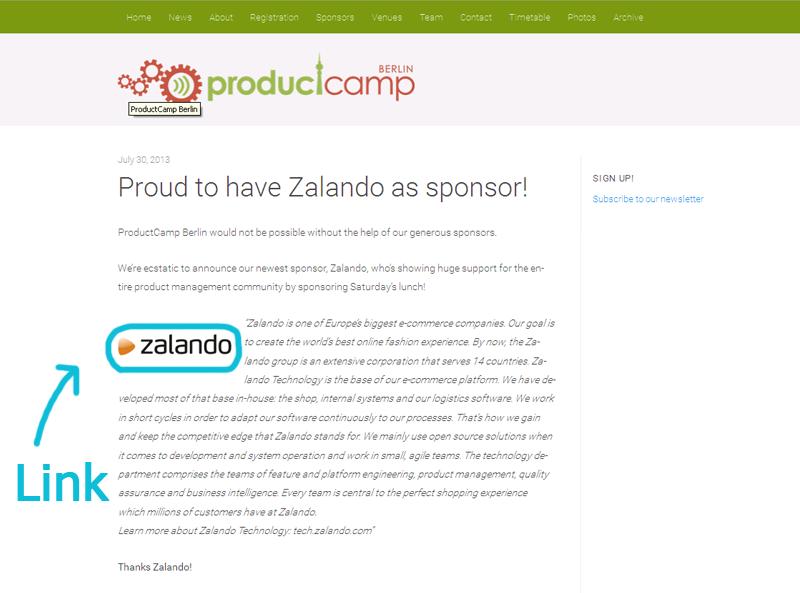 Sponsoring am Beispiel Zalando