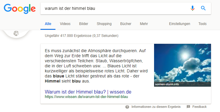 Voice Search SEO Desktop Suche