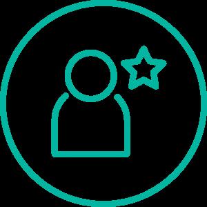 Icon mit Figur und Stern