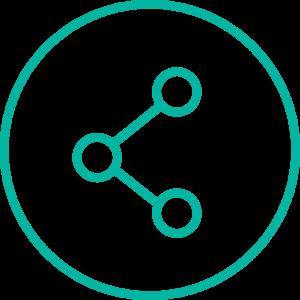 Icon mit vernetzen Punkten