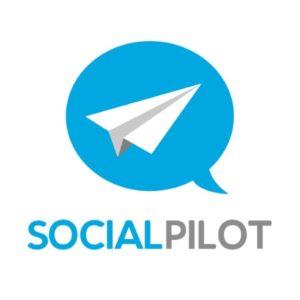 Das Logo vom Social Media Tool SocialPilot