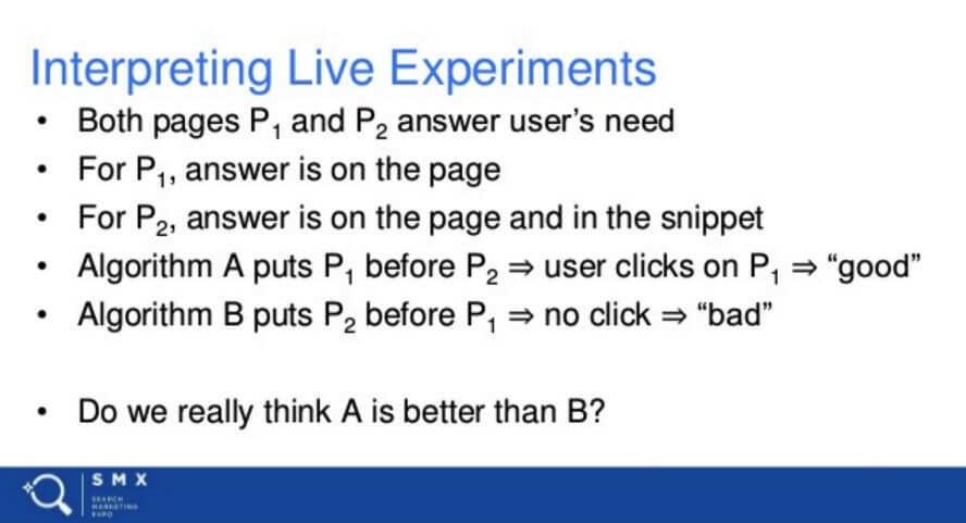 """Folie auf der Präsentation """"How Google Works"""" von Paul Haahr zum Thema Nutzerverhalten"""