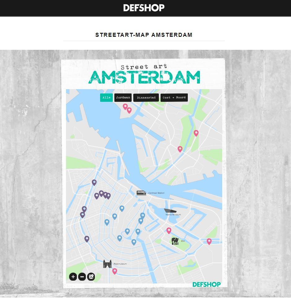 DefShop Streetart Map Amsterdam