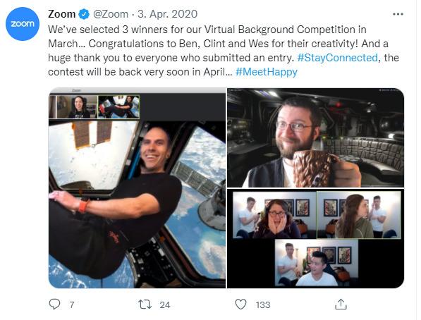 Social Media Kampagne Beispiel Zoom