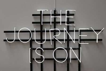 "Leuchtschild ""The Journey is on"""